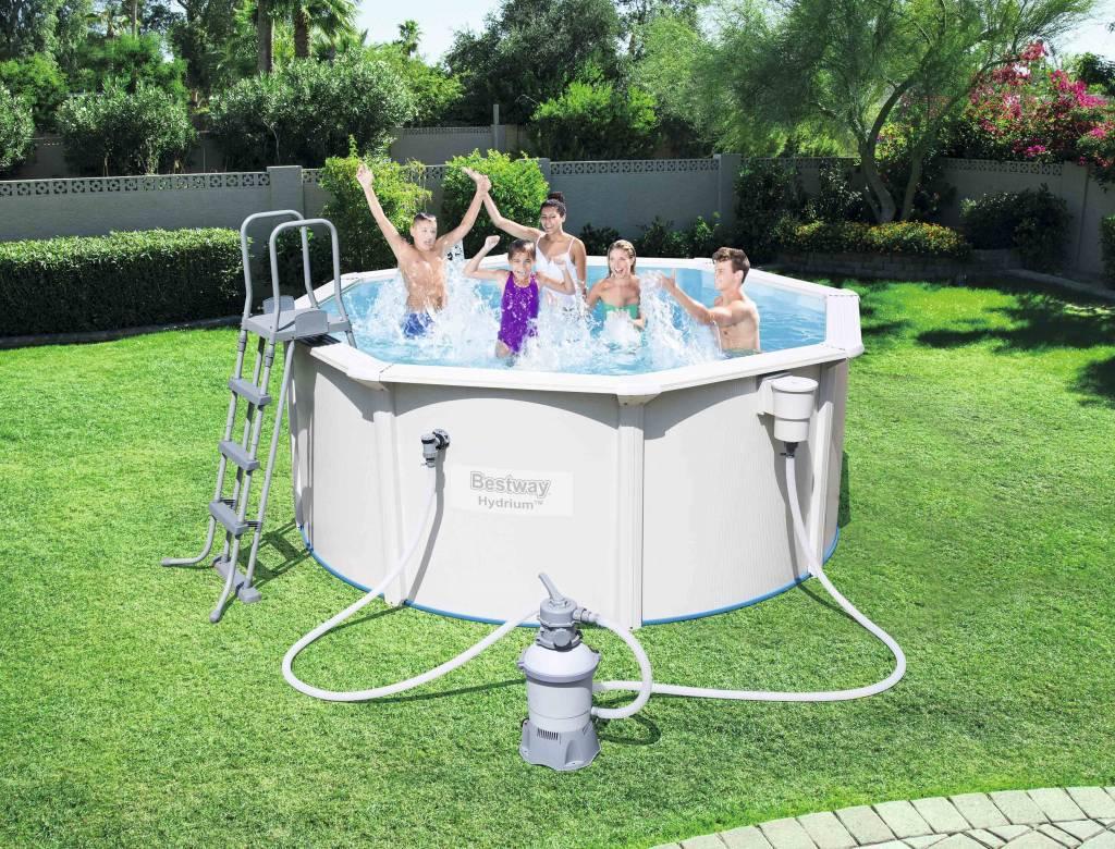Voir Piscine Hors Sol grande piscine hors sol acier bestway avec filtration incluse Ø 3,05m -  aquapolis