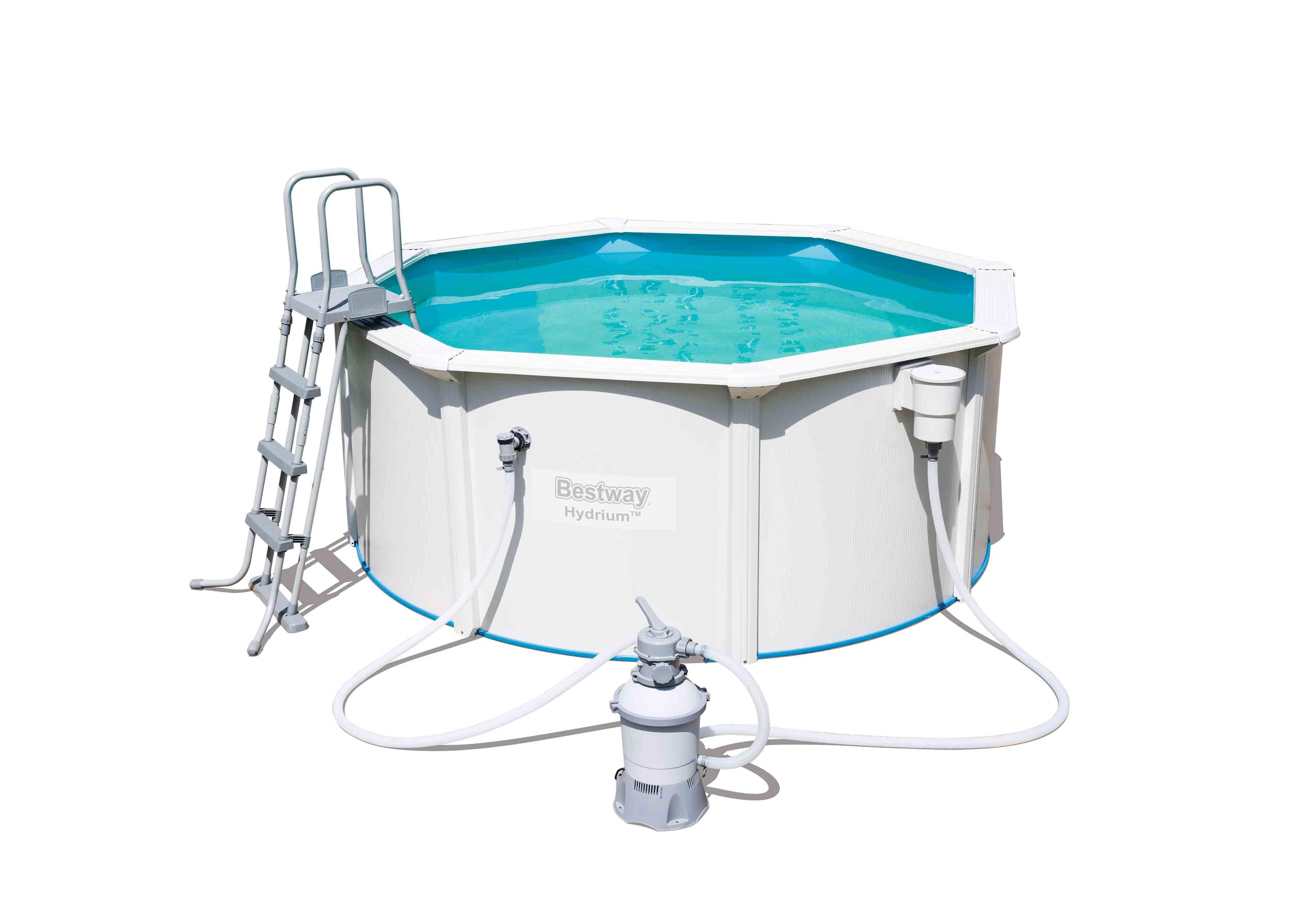 grande piscine hors sol acier bestway avec filtration. Black Bedroom Furniture Sets. Home Design Ideas
