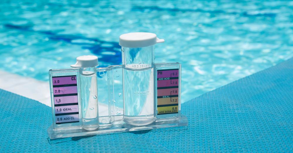 test du PH dans l'eau