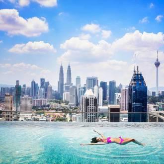 Piscine à débordement à Kuala Lumpur
