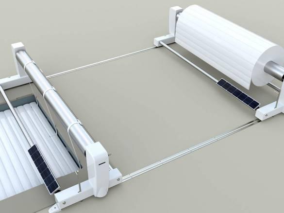 Volet solaire sur rails 2