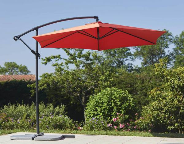 Parasol déporté rouge 2