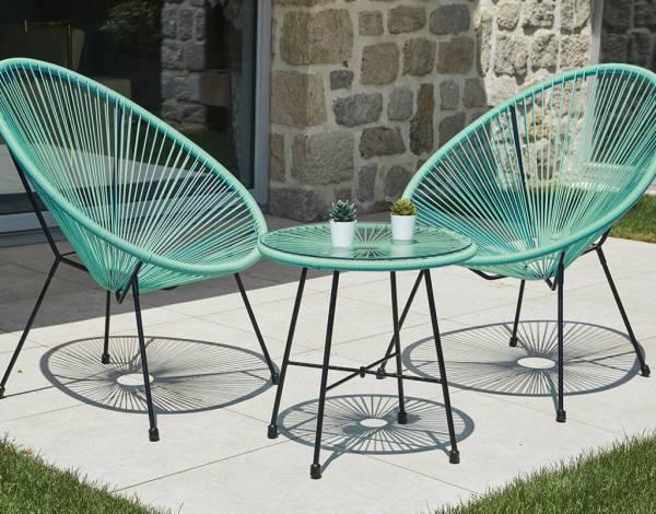 Salon de jardin design CARACAS vert