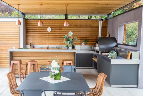 Poolhouse cuisine d'été