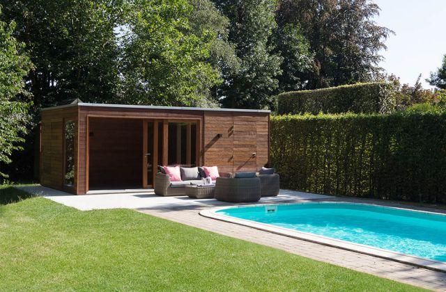 Poolhouse salon de jardin