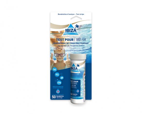 produit test analyse 4 mesures piscines ibiza
